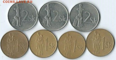 *****Монеты разных стран***** - Словакия