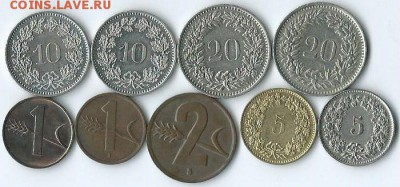 *****Монеты разных стран***** - Швейцария