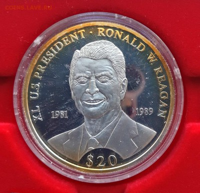 КИНЕМАТОГРАФ на монетах и жетонах - 2000-год-Рейган--1