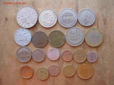 Иностранные монеты разные 60 штук - 22_thumb