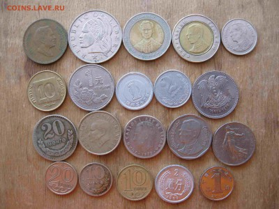 Иностранные монеты разные 60 штук - 32_thumb