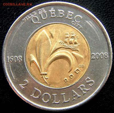 """Канада_2 доллара 2008 """"400 лет городу Квебек""""; 27.04_22.28мс - 11247"""