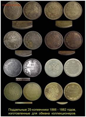 О ПОДДЕЛЬНЫХ 25-КОПЕЕЧНИКАХ 1866 – 1882 годов - 01-01