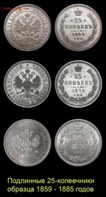 О ПОДДЕЛЬНЫХ 25-КОПЕЕЧНИКАХ 1866 – 1882 годов - 01-01+