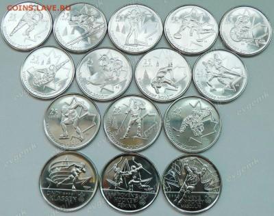 Канада. Олимпиада в Ванкувере. 15 монет. Спорт. Brilliant UNC - ca_25cents_2007-2010_vancouver_15coins