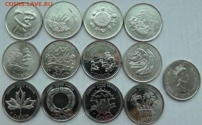 Канада. 2000. 25 центов. Миллениум. 12 монет. UNC - ca_25cents_2000_millenium