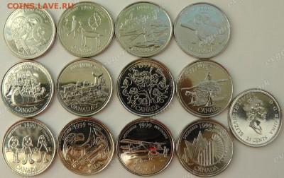 Канада. 1999. 25 центов. Миллениум. 12 монет. UNC - ca_25cents_1999_millenium