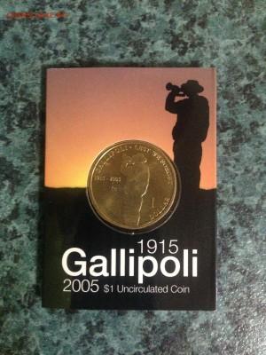 Блокада29р Конституция 95Ну погоди450Армия320,1е муль1050 - 2005 Gallipoli 90th Anniversary $1 Coin - 'S' Mintmark  1- 3.95
