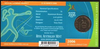 Блокада29р Конституция 95Ну погоди450Армия320,1е муль1050 - 2006 Melbourne Commonwealth Games $1 Coin - 'M' Mintmark 1-8.75