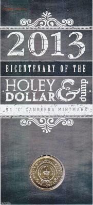Блокада29р Конституция 95Ну погоди450Армия320,1е муль1050 - 2013 Bicentenary of Holey Dollar & Dump $1 Australian Coin 'C' Canberra Mintmark 1-12