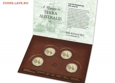 Блокада29р Конституция 95Ну погоди450Армия320,1е муль1050 - 2014 Australia Privymark & Mintmark $1 Four Coin Set - A Voyage Terra Australis 1- 22.95
