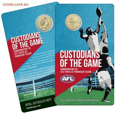 Блокада29р Конституция 95Ну погоди450Армия320,1е муль1050 - 2015 AFL Premiership Season - Custodians of the Game RAM $1 Coin 3- 19.99
