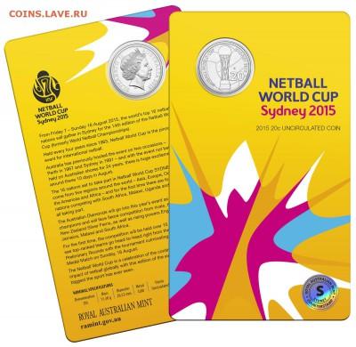 Блокада29р Конституция 95Ну погоди450Армия320,1е муль1050 - 2015 Netball World Cup - Sydney - 20c Coin 2-12.5