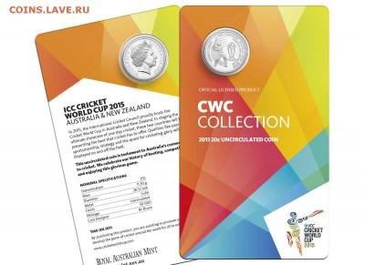 Блокада29р Конституция 95Ну погоди450Армия320,1е муль1050 - 2015 ICC Cricket World Cup 20c Uncirculated Coin 2-15.95