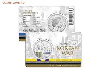 Блокада29р Конституция 95Ну погоди450Армия320,1е муль1050 - 2016 Australia at War Series - Korean War - 50c Coin 2-10