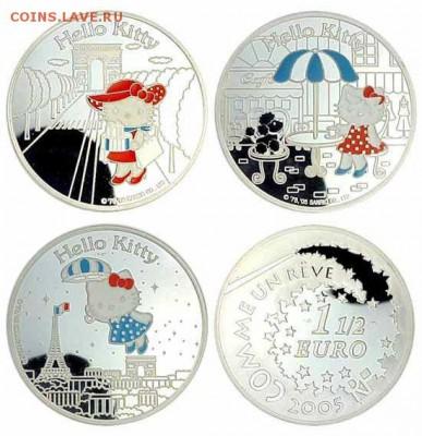 Кошки на монетах - Китти-1,5 евро-4