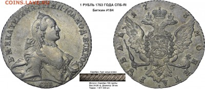 Коллекционные монеты форумчан (рубли и полтины) - 1 рубль 1763 СПБ ТI ЯI - 1  копия
