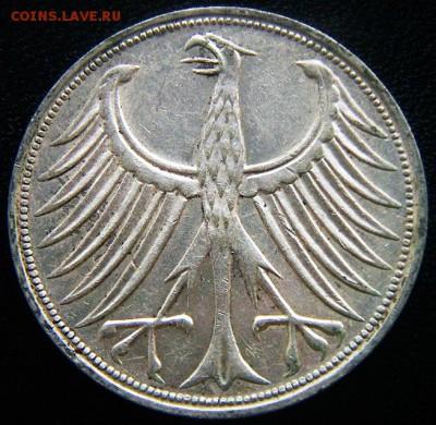ФРГ_5 марок 1966(F). Серебро; до 01.09_22.30мск - 12473