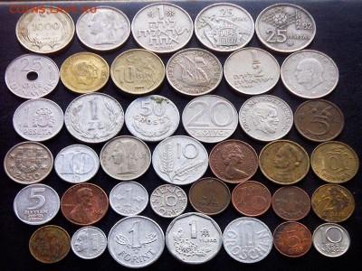 75 разных зарубежных монет (см. описание). До 01.09_22.34мс - 2