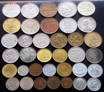 75 разных зарубежных монет (см. описание). До 01.09_22.34мс - 4