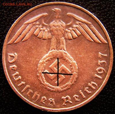 Германия. 3-й Рейх_1 рейхспфенниг 1937(D); до 01.09_22.36мс - 12472