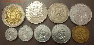 Набор монет Грузии. 9 монет. 1993,2006До 7.09.2016 в 22.00 - 20160719_222308-1