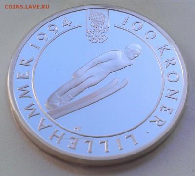 Норвегия 100 крон 1992 Олимпиада лыжи (07.09) с рубля - IMAG2520