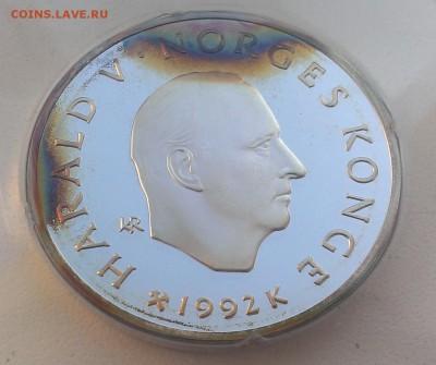 Норвегия 100 крон 1992 Олимпиада лыжи (07.09) с рубля - IMAG2521