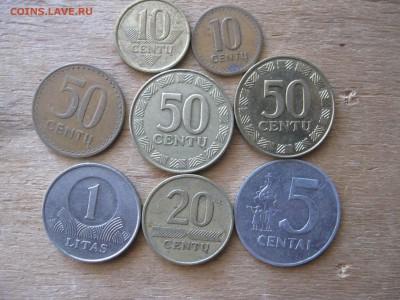 Литва 8 монет подборка - IMG_5062_thumb