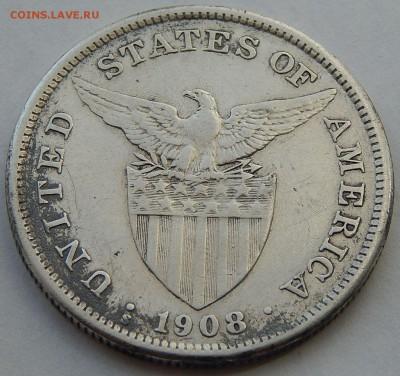 Филиппины 1 песо 1908, до 30.09.16 в 22:00 МСК - 4004