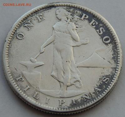 Филиппины 1 песо 1908, до 30.09.16 в 22:00 МСК - 4003