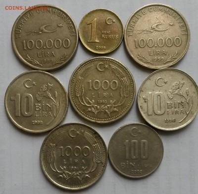 Турция. 8 монет 1991- 2005г.  Окон 30.09.16 в 21.00 мск - т1