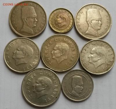 Турция. 8 монет 1991- 2005г.  Окон 30.09.16 в 21.00 мск - т2