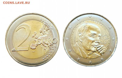 Кто серьёзно собирает(коллекционирует) монеты евро? - Франция_2 евро_2016_Миттеран_на Мешок