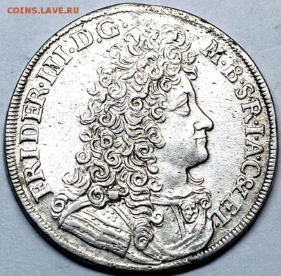 Германия. Бранденбург_серебряный гульден 1690; 05.11_22.10мс - 10229