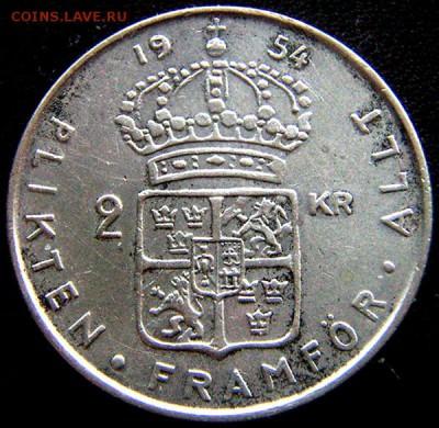 Швеция_2 кроны 1954. Серебро; до 05.11_22.13мск - 11231