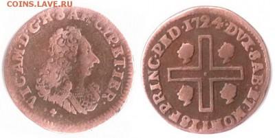 Сардинское Королевство - Сардиния 1 каглиарезе (Cagliarese) 1724 KM-4