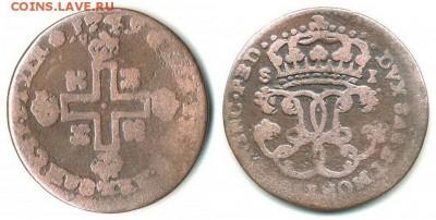 Сардинское Королевство - Сардиния 1 сольдо 1749 KM-16 Billon