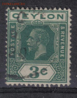 Британский Цейлон 1912-33гг 3с №3 до 13.11 22.00мск - Британский Цейлон 1912-33гг 3с №3