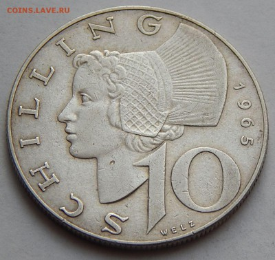 Австрия 10 шиллингов 1965, до 23.11.16 в 22:00 МСК - 4693