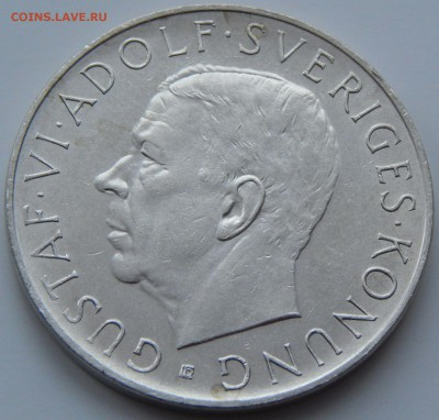 Швеция 5 крон 1952 70 лет Густаву VI, до 23.11. в 22:00 МСК - 4110
