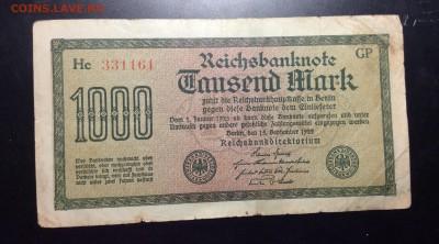 Германия 1000 марок 1922 - image