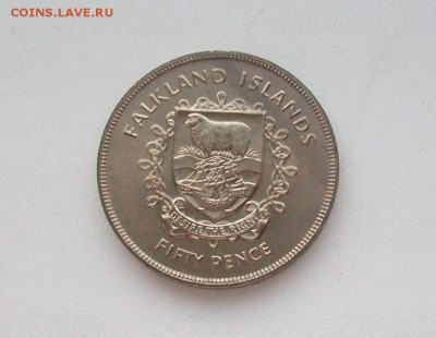 Крона(шайба) Фолклендские острова 50 пенсов 1977 - 100_6213
