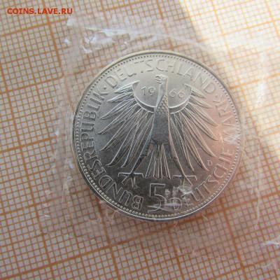 ФРГ 5 марок 1966 D Готфрид Вильгельм Лейбниц - 2