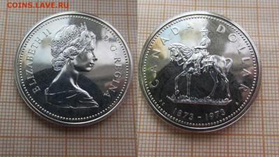 Канада 1 доллар 1973 года Штемпельный блеск, Серебро - 1
