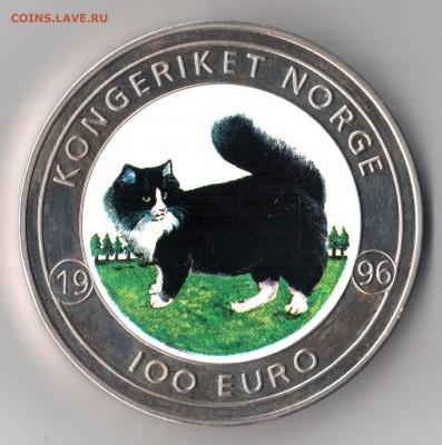 Кошки на монетах - 100 euro-1