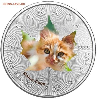 Кошки на монетах - 2017-1
