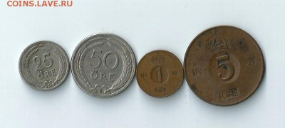 4 монеты Швеции до 11.02.2017 22:00 - Шв-01