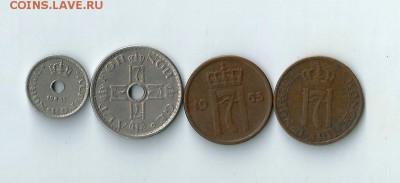 4 монеты Норвегии до 11.02.2017 22:00 - Нор-02