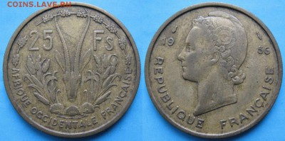 Французская Западная Африка 25 франков 1956: до 22-02-17 - Франц Зап Африка 25 франков 1956    2879
